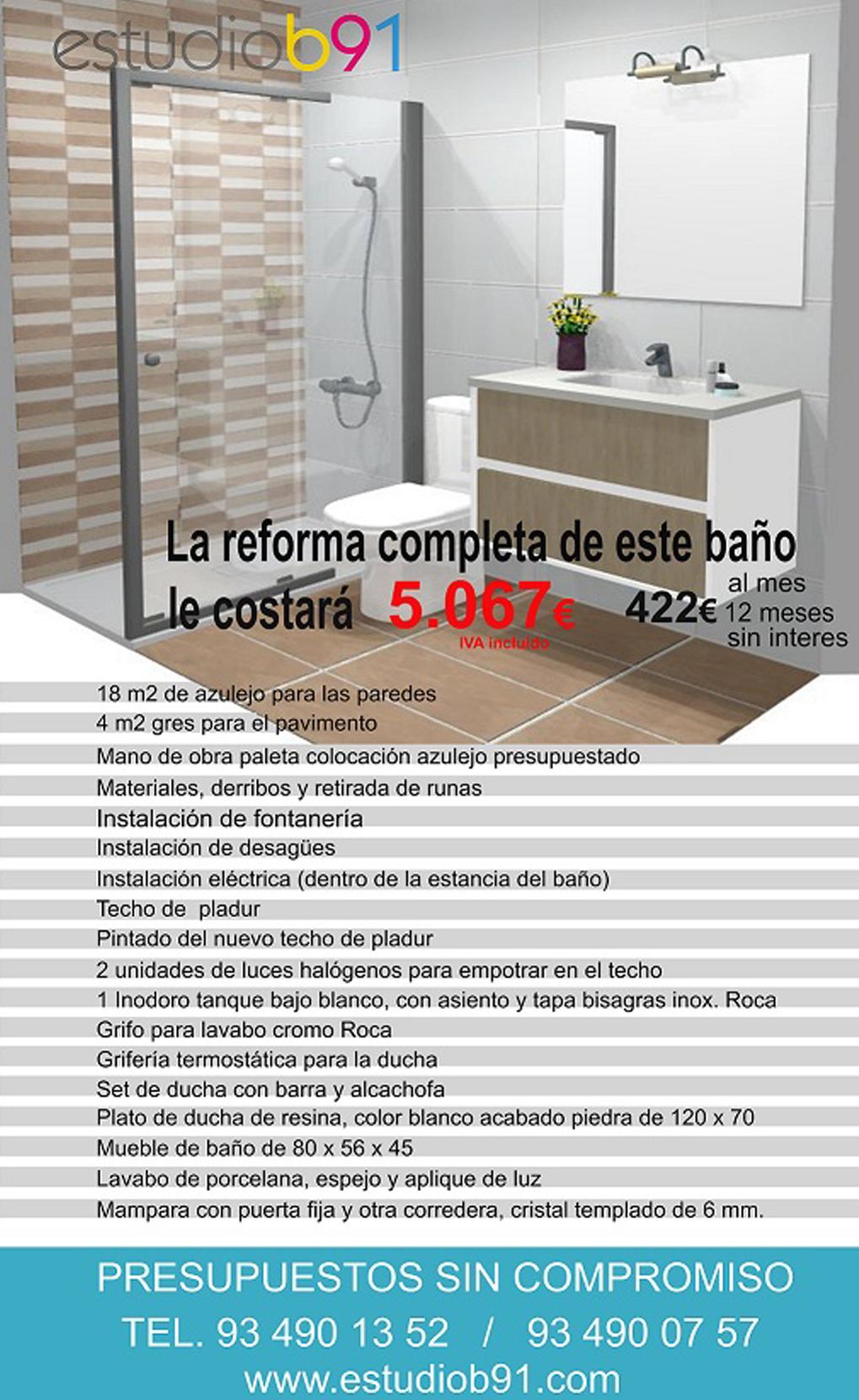 loneta  baño+